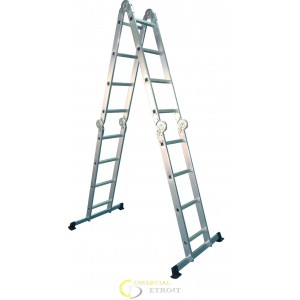 Escalera multiusos articulada aluminio 316cm comercial for Escalera multiusos