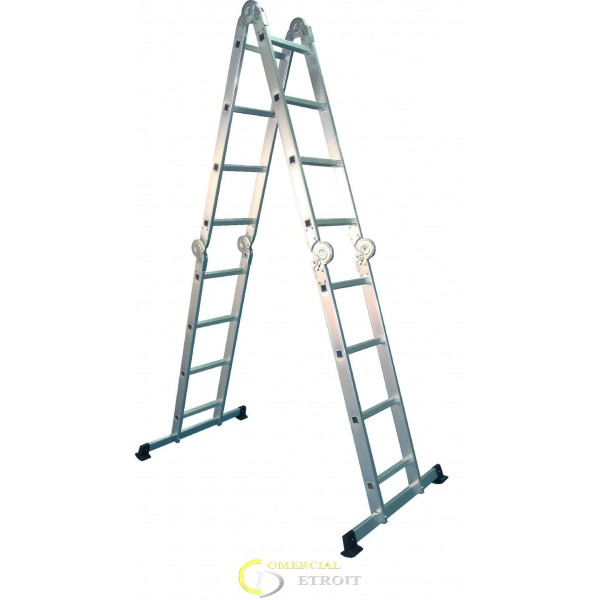 Escalera multiusos articulada aluminio 316cm comercial for Escalera aluminio plegable articulada precio