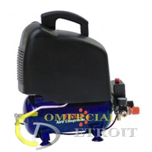 Compresor monof sico 6 litros 1 5cv sin aceite comercial - Compresor 6 litros ...