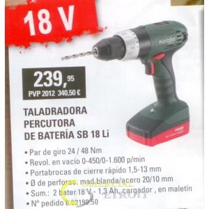 Taladradora percutora de bateria SB 18Li